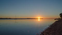 Sunrise at Malahide - DSC_0165 (John Hickey - fotosbyjohnh) Tags: 2016 august2016 malahide sunrise outdoor irishsea dublin ireland coast landscape seascape shore seashore malahideestuary morning daybreak sun sky water