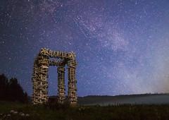 Nikola-Lenivets (Anton Andreev) Tags: nikola lenivets night star astrophotography skies milky ways galaxy structure architecture wood nature