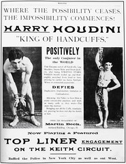 Early Houdini ad in Mahatma Magic Magazine (ca. 1902) (lhboudreau) Tags: magic conjuring magician conjurer trick tricks houdini harryhoudini illusionist escapeartist legerdemain handcuffking thehandcuffking handcuff handcuffs publicityphoto publicityphotographs 1902 younghoudini theoriginal publicityphotograph illusionists escapologist stuntperformer chains locks shackles muscular man poster advertisement ad kingofhandcuffs mahatma mahatmamagazine keithcircuit legshackles escape escapist escapology