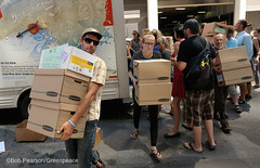 Delivering Lots Of Signatures (Greenpeace USA 2016) Tags: colorado ban fracking petition truck delivery fossilfuel oil gas denver coalition