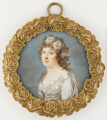Giovanni Domenico Bossi (17651853): Young Woman with Garland of Flowers / Nuori seppelepinen tytt / Ung kvinna med blomsterkrans (Finnish National Gallery) Tags: painting portrait miniature garland flowers woman bossi 18thcentury