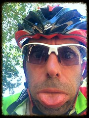 Melting (Ciclante Furioso) Tags: melting riding cyclomania 40c hot whatafuck wtf ciclismo holiday hyeres tongue me selfie iphoneography iphone face stupid funny