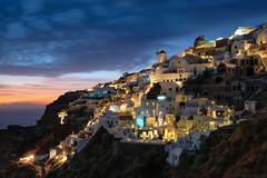 Jewel of the Cyclades (blame_the_monkey) Tags: bluehour church cyclades fujifilm greece island oia santorini sunset xt2 night