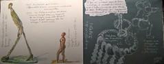 Paris. Quai Branly. Exposition J.Chirac et les Arts lointains. (2) (couleur.indigo) Tags: carnet crayon croquis aquarelle paris muse