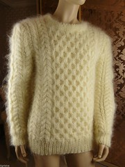 Mohair honeycomb aran fetish wool sweater (Mytwist) Tags: mohair hand knit mens white cream crewneck pullover sweater jumper etsy mytwist style fetish modern fashion dare wool knitted webfound handgestrickt handknitted handknit craft ebay fuzzy cozy moh