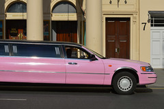 Haymarket 24aug16 (richardbw9) Tags: london uk england westminster westend city street urban londonstreetphotography haymarket theatreroyal breakfastattiffanys limo pinklimo pinkcar pink car auto automobile voiture stretchlimo limousine columns portico arches theatre boxes uppercircle gallery number7 seven woodendoor creamfacade