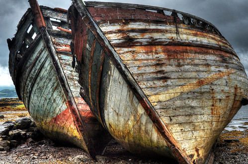 Dilapidated boats