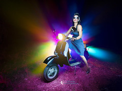 Chica Pin-up 3 (Gabriel Glez.) Tags: gabrielglez noctografia pinup pinturadeluz lightpainting light painting moto lightpaintingmoto nightphotography