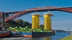 Transportation (*Nils aus Kiel*) Tags: transportation moving steel bridge water nordostseekanal germany colorful heavy mega shipping offshore energy details landscape ngc