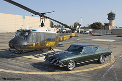 74-22540 UH-1H and 69 Chevelle (PhantomPhan1974 Photography) Tags: ocsd orangecountysheriffsdepartment orangecounty danapointharbor duke6 uh1h n186sd 7422540 1969 chevelle