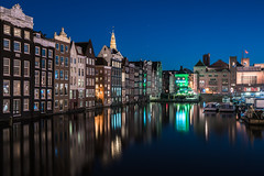 Amsterdam Reflections (McQuaide Photography) Tags: amsterdam noordholland northholland netherlands nederland holland dutch europe sony a7rii ilce7rm2 alpha mirrorless 1635mm sonyzeiss zeiss variotessar fullframe mcquaidephotography adobe photoshop lightroom tripod manfrotto light licht night nacht nightphotography longexposure stad city capitalcity urban lowlight architecture outdoor outside old oud gracht grachtenpand canalhouse house huis huizen traditional authentic water reflection centrum gebouw building waterfront waterside canal colour colours color boat boot windows damrak travel traveldestination landmark famousplace tourism skyline