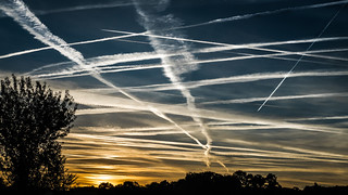 High traffic of planes
