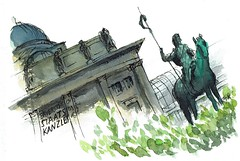 Staatskanzlei, Mnchen, Germany (fbeck) Tags: urbansketching munich drawing architecture watercolor