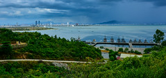 The guards of the city (free3yourmind) Tags: guards city sea navy army river clouds cloudy day green trees hill danang vietnam