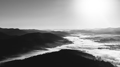 0226 (_Moliveira) Tags: landscape bw fog foggy haze mist clouds sky mountain hill winter black white blackandwhite trip travel sunlight sunrise sunrising sun nikon 35mm dx 18