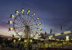 DSC_0250 faulkner County Fair (snolic...linda) Tags: arkansas 501 fair amusementrides faulknercountyfair conwayarkansas fairuswheel night nightphotography lightpainting tiltawhirl fairrides longexposure dusk bluehour