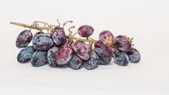 Grapes -- Just Grapes . . . (Oliver Leveritt) Tags: su800 su800wirelessspeedlightcommander cls nikoncls creativelightingsystem offcameraflash sb600 umbrella whitebackground nikond90 afsdxnikkor55300mmf4556gedvr oliverleverittphotography grapes blackgrapes food foodporn