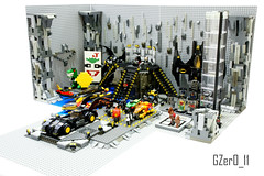 LEGO Batcave MOC (Right View) (GZer0_11) Tags: lego batman dc comics super heroes superheroes moc own creation batcave batcomputer joker card abraham lincoln coin trex dinosaur costume glasses training boxing elevator rock stone batmobile batpod batbike motorbike batwing robot batrobot giant batboat submarine vehicle characters character stairs bruce wayne robin dick grayson flying nightwing new 52 jason todd red hood tim drake redrobin damian batgirl oracle barbara gordon alfred pennyworth butler