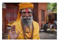 sadhu in the street | varanasi (handheld-films) Tags: india varanasi portrait portraiture people faces street sadhu man wiseman sacred hindu religion religious