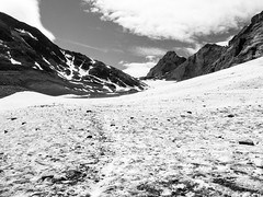 Glacier on the way to Hockenhorn (Anneke van Beek) Tags: blackwhite kandersteg switzerland zwitserland hiken zwartwit