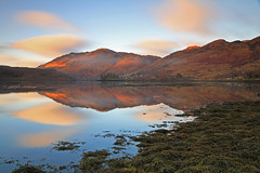 Loch Long. (Gordie Broon.) Tags: ocean winter sky seascape seaweed nature clouds reflections landscape geotagged photography scotland scenery alba scenic escocia calm hills explore schottland ecosse invernessshire scozia lochlong sealoch killilan sallachy canoneos7d