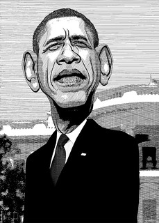 From http://www.flickr.com/photos/47422005@N04/8392772264/: Barack Obama - Caricature Line Drawing