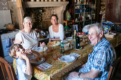 Family lunch II (koalie) Tags: vacation food france kitchen lunch countryside champagne balou maman adrien creuse limousin koalie coraliemercier andrmercier laurencemercier byvv06 byvlad chteluslemarcheix lesctes mamielaurence 2012summervacation