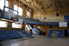 Forgotten Hoop Dreams (nitram242) Tags: school abandoned stag detroit demolition mackenzie