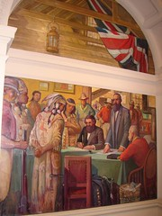 Justice (victoriabedandbreakfast) Tags: standing 1932 buildings court gold justice bc matthew clinton chief murals parliament victoria rush judge colonia historical law aboriginal gh cariboo begbie subjugation baillie southwell quasihistorical