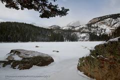 Bear Lake under the Snow (RondaKimbrow) Tags: winter snow colorado hiking rockymountainnationalpark continentaldivide bearlake halletpeak httprondakimbrowphotography500pxcom