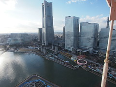 View of Land Mark Tower and Queen's Square from Cosmo Clock 21, Yokohama (tyamashink) Tags: