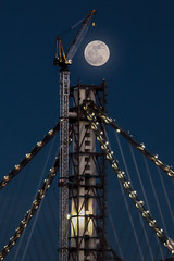 Bay Bridge Finishing Touches (phil_mcgrew) Tags: sanfrancisco bridge moon construction treasureisland fullmoon baybridge yerbabuena lunar