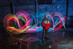 Portrait of AJ (Mike Ridley.) Tags: longexposure portrait lightpainting colour reflection reflections flash urbanexploration derelict urbex lightpaint lightpainted 1740f4l v24 lapp lenser sooc 5dmarkii tynesidenewcastle canon430exll lenserv24 fenwickpit fellwalker1