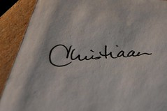 my name (christiaan_25) Tags: heritage me handwriting project name identity photoaday february cursive lostart yourname fmsphotoaday