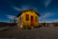 Tourist Cabin (dejavue.us) Tags: california longexposure nightphotography moon lightpainting building abandoned digital route66 nikon ludlow fullmoon derelict mojavedesert d800 1835mmf3545d vle touristcabin
