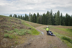 Self loathing (Trail Image) Tags: oregon ben motorcycle badmemory kawasakiklr650