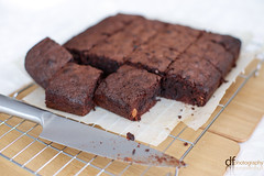 Brownies - Bill Granger Recipe (Dan Fegent) Tags: family food love cooking dessert yummy amazing cool brother chocolate awesome rich cook tasty chips sugar wicked talent chef snack passion chip sweets treat fullframe upclose incredible munch brownies macrolens nutrients australianchef billgranger lunchymunchies canon1dx