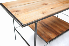 "Pine Top Coffee Table with Lath Shelf - Corner Detail • <a style=""font-size:0.8em;"" href=""http://www.flickr.com/photos/80301931@N08/8467393974/"" target=""_blank"">View on Flickr</a>"