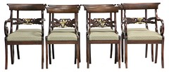 84. Set of 8 Classical Dining Chairs