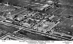 Hammersmith Hospital, London (robmcrorie) Tags: school england london history 1931 hospital bush postcard union royal photographic hammersmith patient medical prison health national doctor nhs service british nurse healthcare development aero charter postgraduate scrubs publisher wormwood shepherds workhouse
