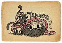tamalito time (Anita Mejia) Tags: life cute love illustration pen ink cat day journal kitty doodle gato kawaii sanvalentin 14defebrero chocolatita anitamejia