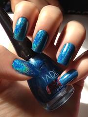Efeito Holográfico (Sara Moreira de Oliveira) Tags: blue jade unhas holografico azu capricho bluenails unhadasemana clubedoesmalte efeitoholografico