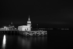 Dunoon Pier (Daisy Swain) Tags: wood longexposure reflection water ferry night scotland pier terminal dunoon sigma1020mm argyllandbute canon60d