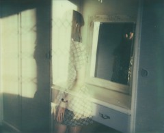 (Leanne Surfleet) Tags: light selfportrait colour film polaroid mirror shadows doubleexposure spectra expired impossible leannesurfleet pz680 colorprotection