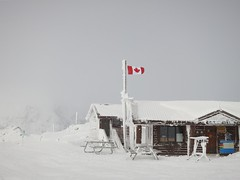 Harmony Tea Hut (Ruth and Dave) Tags: winter mountain canada cold ice weather whistler tea flag hut alpine harmony rime candian weatherphotography cabinnsnow