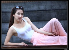 nEO_IMG_IMG_7404 (c0466art) Tags: pink light portrait baby white color beauty face female canon nice eyes asia university pretty sweet outdoor quality low chloe skirt figure 5d lovely pure c0466art