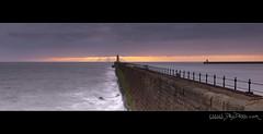 Tynemouth panorama (Dru Dodd) Tags: dru light sea panorama orange sun seascape colour sunrise newcastle coast pier olympus andrew tyne tynemouth lightouse e30 dodd