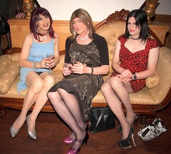 We are not what we seem.... (Julie Bracken) Tags: old red party portrait fashion hair ginger tv cd mini skirt crossdressing redhead tgirl transgender mature tranny transvestite heels crossdresser nylon trannie mtf m2f feminized enfemme xdresser tgurl feminised transsisters julieb85