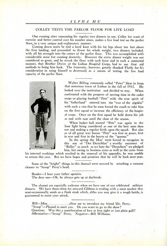 Alpha Mu yearbook, page seventy-one, 1915.