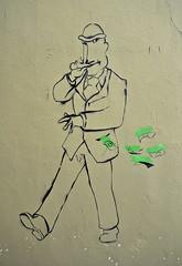 HH-Stencil 495 (cmdpirx) Tags: urban streetart color colour art cutout painting fun one graffiti stencil paint panda hamburg humor can spray drug layer multiple hh aerosol farbe altona schablone strassenkunst